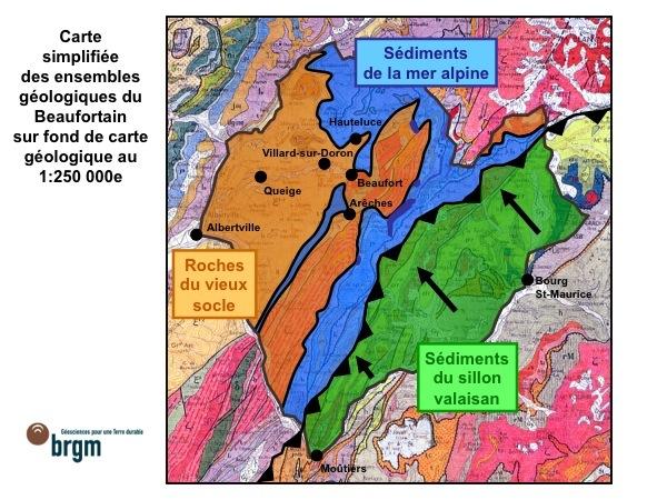 carte geol beaufortain 1-250 000 et les trois zones final